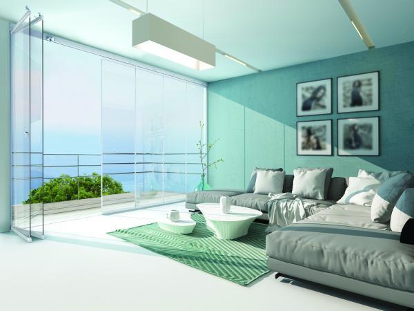 NUDA - Sistema di chiusura con vetrata dal design essenziale, senza profili verticali, per un isolamento garantito, efficace e 'invisibile'.