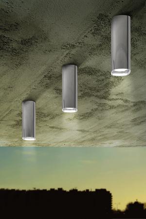 I tre, Sydney ambientata con diffusore in alluminio lucido