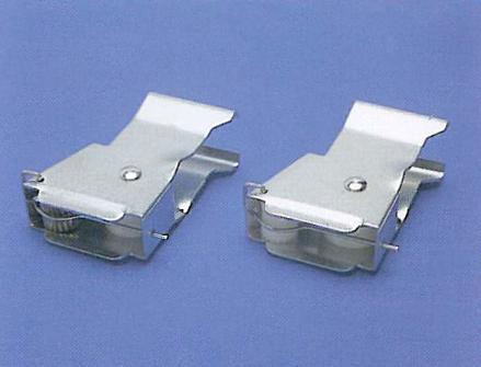 Fermocorda 50 mm scatto, rotella PVC o in ottone  / 50 mm cordlock, PVC and brass roll