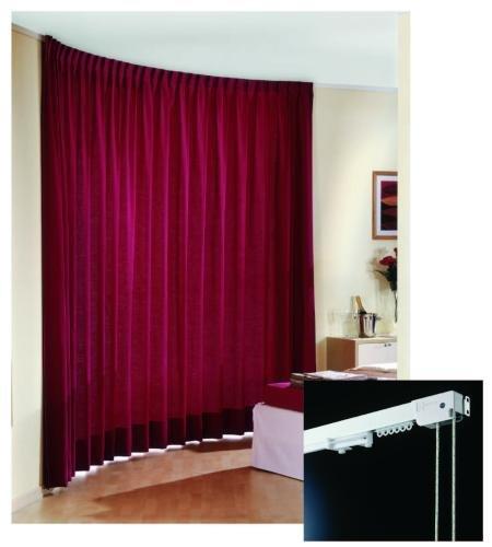 ARCO 470 - sistema per tende arricciate indicato per ambienti domestici e professionali / ARCO 470 - draped curtain system suitable for domestic and professional environments