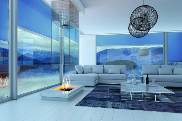 NIMBUS - Sistema di tenda verticale indicato per la protezione di finestrature di grandi dimensioni, può schermare superfici fino a 25mq.