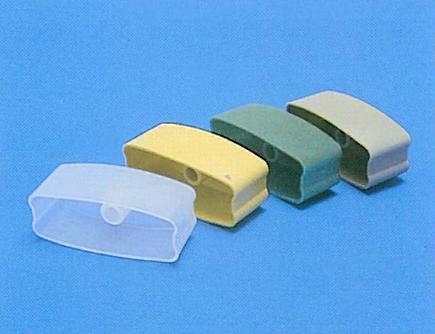 Tappo spiaggiale 35 e 50 mm in PVC neutra o colorata / Cap for bottom rails both for 35 e 50 mm realized in milky and colored PVC .