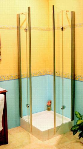 Box doccia e vasca in alluminio verniciato bianco, verniciato argento e simil acciaio ,con lastre in acrilico o cristallo temprato. Realizzati in varie tipologie e misure sia per piatti e vasche standard che fuori misura.