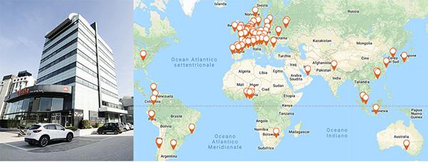 Sede italiana: BICENTER a Padova e le aziende del gruppo Etex nel mondo