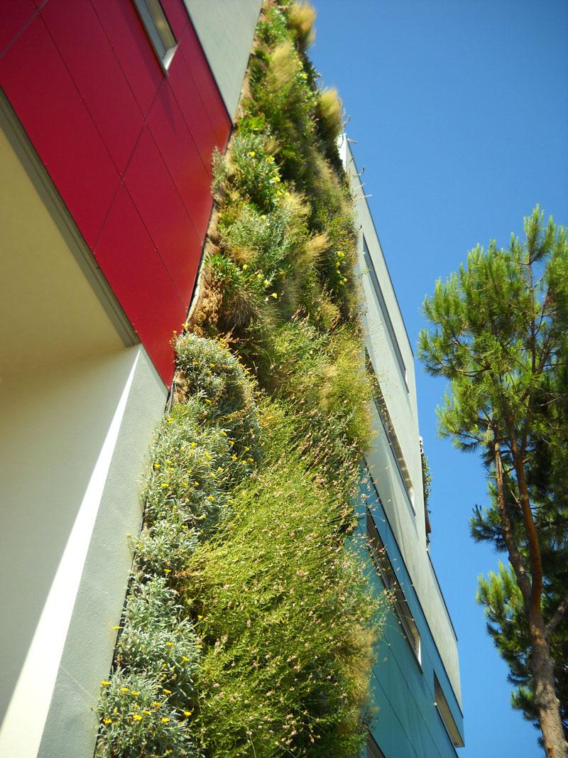 Perliwall®, per pareti e facciate inverdite,  recinzioni autoportanti e parapetti di balconi