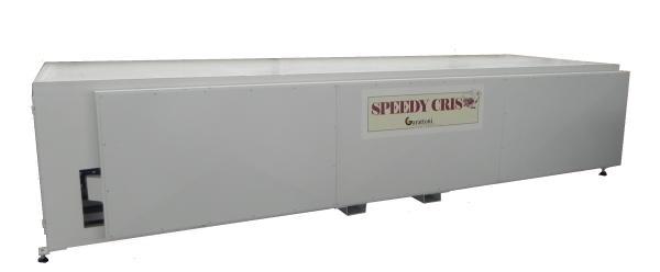 SPEEDY CRIS l'unico macchinario sul mercato (Sistema Brevettato) ideato per stabilizzare il cristal in modo da eliminare il problema di restringimento legato alla natura stessa del tessuto