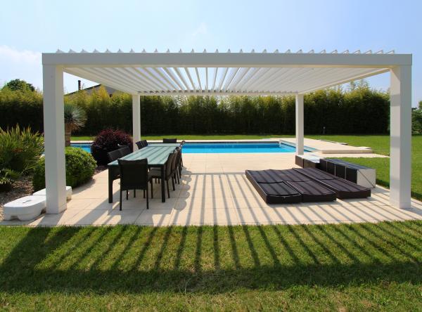 PERGOKLIMA R600. Spazio da vivere in maniera elegante e raffinata - dimensioni massime 450x800 cm.