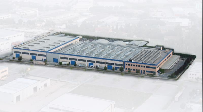 Vista dall?alto della sede principale di Grifo Flex che si sviluppa su una superficie di 20.000 mq