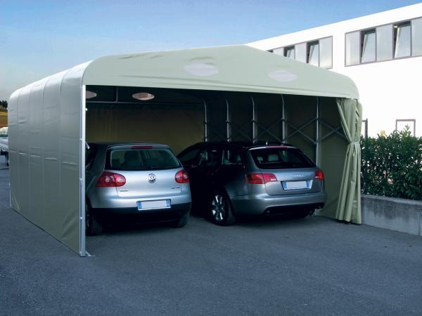 Il Dual Box rappresenta l'evoluzione del box auto per risolvere l'esigenza di coprire due automobili affiancate, e proteggerle dal sole e dal cattivo tempo (pioggia, grandine).