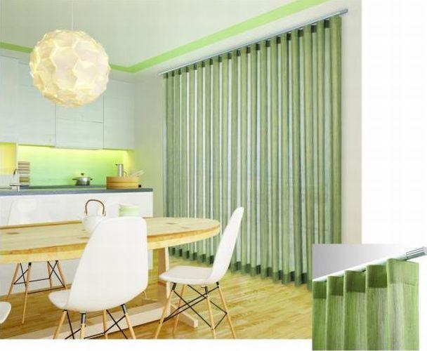 EGO -sistema (anche di design) per tende arricciate ad uso principalmente domestico / EGO - draped curtain system mainly for domestic use