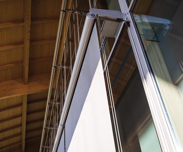 Progettazione attenta al dettaglio e all'estetica della facciata nella sede Technogym di Cesena.