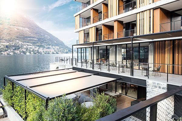 Schermature orizzontali per il Luxury hotel 'Il Sereno' sulle rive del Lago di Como.