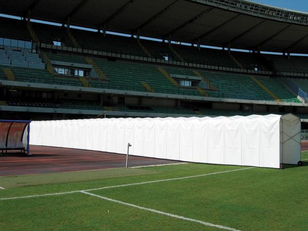 Lo Stadio Box (particolarmente indicato per chi tratta attrezzature sportive) è il tunnel estensibile, che permette l'uscita dei giocatori negli stadi e nei palazzetti dello sport.