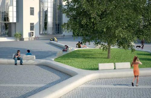 Il sistema modulare di arredo urbano tree line di metalco for Metalco arredo urbano