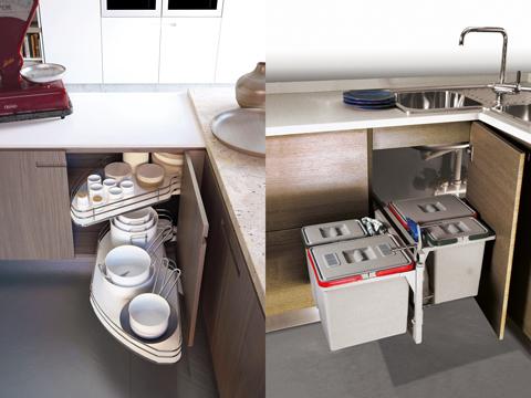Lemi sistemi estraibili salvaspazio per la cucina - Soluzioni cucine ad angolo ...
