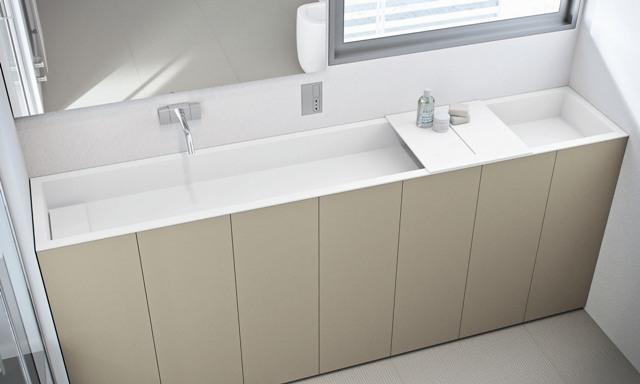 Un bagno dal design moderno e funzionale prodotti for Aziende mobili bagno