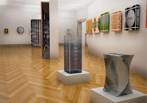 Arte contemporanea design allestimento a roma la lecture la percezione visiva tra arte e - Portale architetti roma ...
