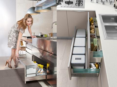 Vibo innovativi sistemi per il riciclo qualit praticit e design - Vibo accessori cucina ...