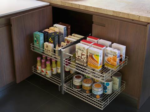 Lemi sistemi estraibili salvaspazio per la cucina - Mobili per angoli ...
