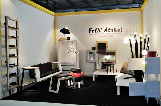 Re use design il designer fethi atakol e il recupero for Oggetti per architetti