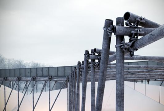 Architettura temporanea il ristorante sul fiume ghiacciato for Architettura temporanea