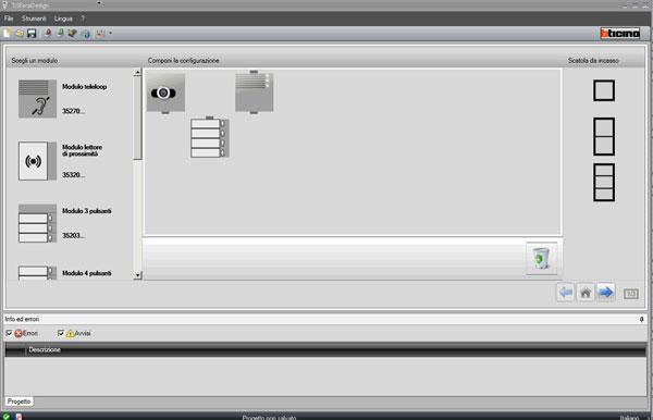 Pulsantiere audio video sfera di bticino cantieri e for Muro robur
