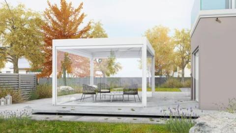 Gennius Isola2 � la nuova tenda a pergola di KE Protezioni Solari